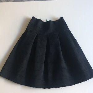 Anthropologie High waisted black knit A Line skirt